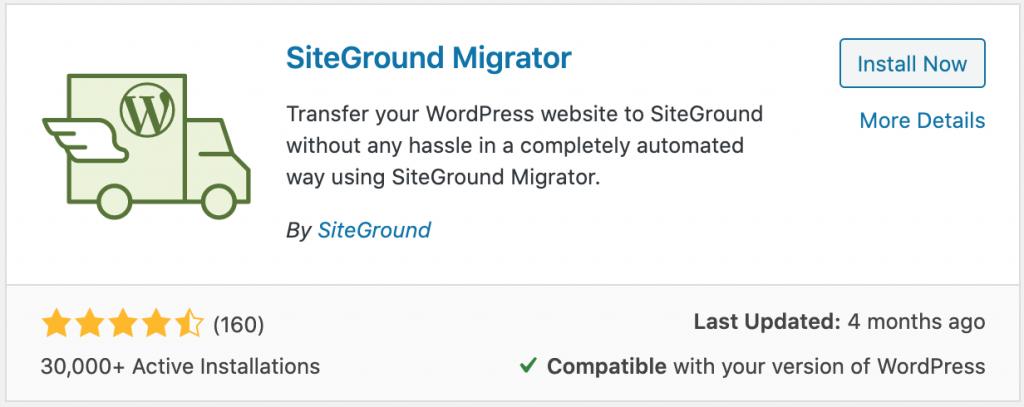 SiteGround WordPress Migration Tool