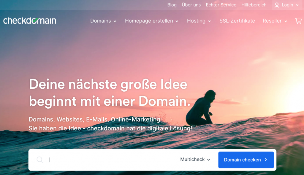checkdomain Homepage
