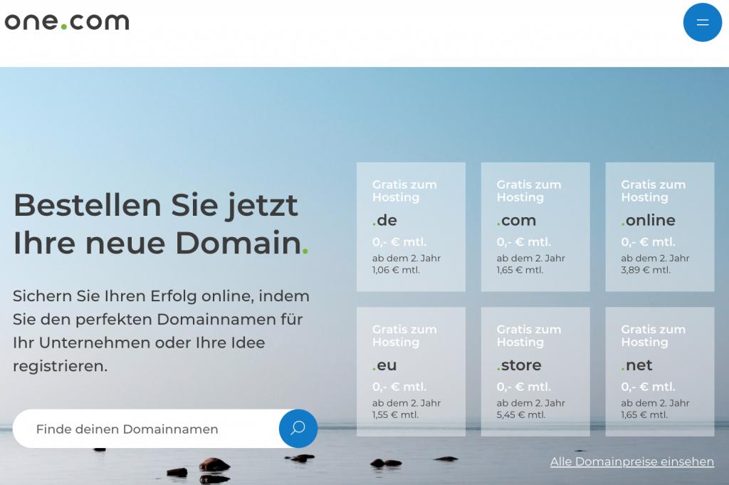 onecom Homepage