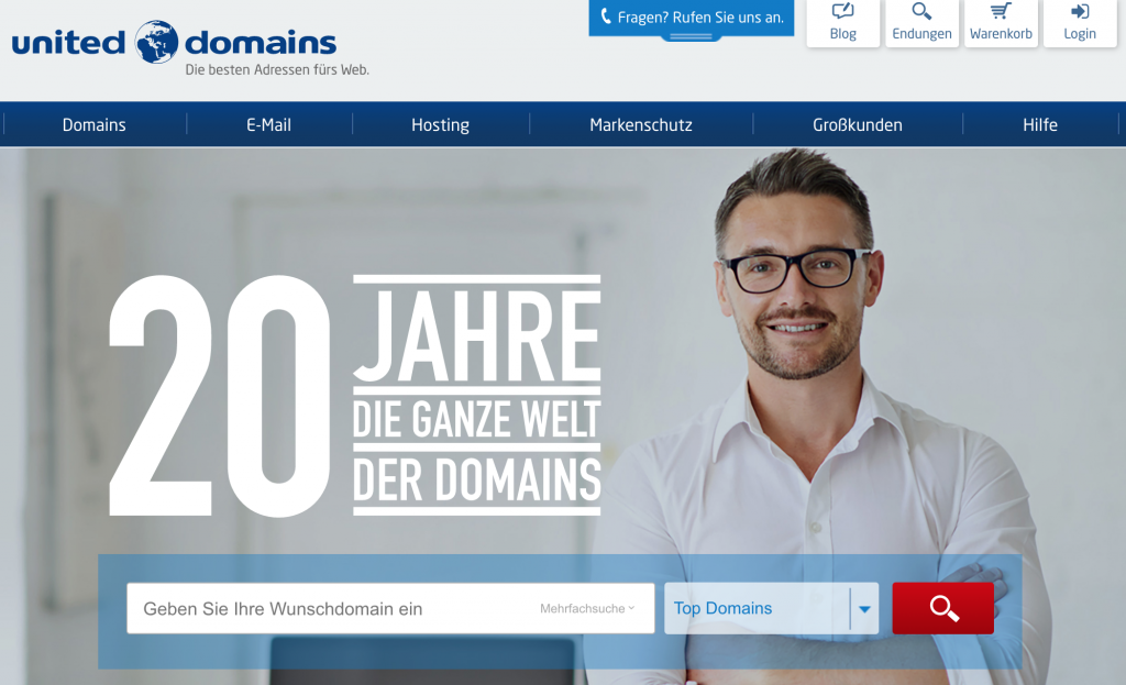 united domains Homepage