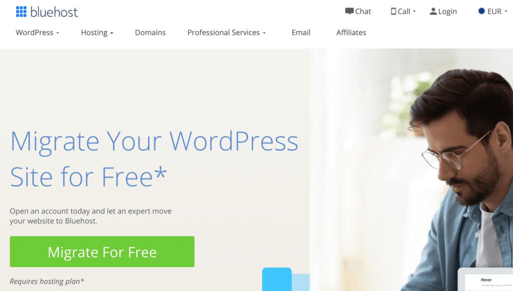 Bluehost WordPress Migration
